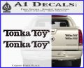 Tonka Toy Decal Sticker 2 Pack Carbon Fiber Black 120x97
