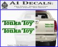 Tonka Toy Decal Sticker 2 Pack Green Vinyl 120x97