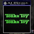 Tonka Toy Decal Sticker 2 Pack Lime Green Vinyl 120x120