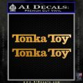 Tonka Toy Decal Sticker 2 Pack Metallic Gold Vinyl 120x120