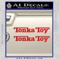 Tonka Toy Decal Sticker 2 Pack Red Vinyl 120x120
