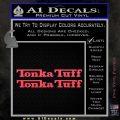 Tonka Tuff Decal Sticker 2 Pack Pink Vinyl Emblem 120x120