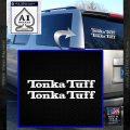 Tonka Tuff Decal Sticker 2 Pack White Vinyl Emblem 120x120
