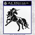 Unicorn Decal Sticker D1 Black Vinyl Logo Emblem 120x120