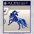 Unicorn Decal Sticker D1 Blue Vinyl 120x120