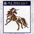 Unicorn Decal Sticker D1 Brown Vinyl 120x120
