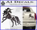 Unicorn Decal Sticker D1 Carbon Fiber Black 120x97