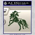 Unicorn Decal Sticker D1 Dark Green Vinyl 120x120