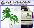 Unicorn Decal Sticker D1 Green Vinyl 120x97