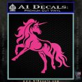 Unicorn Decal Sticker D1 Hot Pink Vinyl 120x120