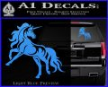 Unicorn Decal Sticker D1 Light Blue Vinyl 120x97