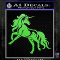 Unicorn Decal Sticker D1 Lime Green Vinyl 120x120