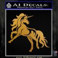 Unicorn Decal Sticker D1 Metallic Gold Vinyl 120x120