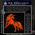 Unicorn Decal Sticker D1 Orange Vinyl Emblem 120x120