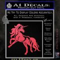 Unicorn Decal Sticker D1 Pink Vinyl Emblem 120x120