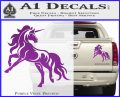 Unicorn Decal Sticker D1 Purple Vinyl 120x97
