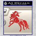 Unicorn Decal Sticker D1 Red Vinyl 120x120