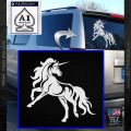 Unicorn Decal Sticker D1 White Vinyl Emblem 120x120