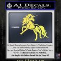 Unicorn Decal Sticker D1 Yellow Vinyl 120x120