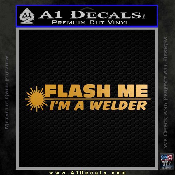 Welding Decal Sticker D1 Metallic Gold Vinyl