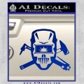 Welding Decal Sticker D4 Blue Vinyl 120x120