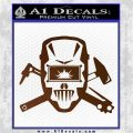 Welding Decal Sticker D4 Brown Vinyl 120x120