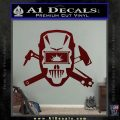 Welding Decal Sticker D4 Dark Red Vinyl 120x120