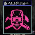 Welding Decal Sticker D4 Hot Pink Vinyl 120x120
