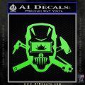 Welding Decal Sticker D4 Lime Green Vinyl 120x120