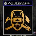 Welding Decal Sticker D4 Metallic Gold Vinyl 120x120
