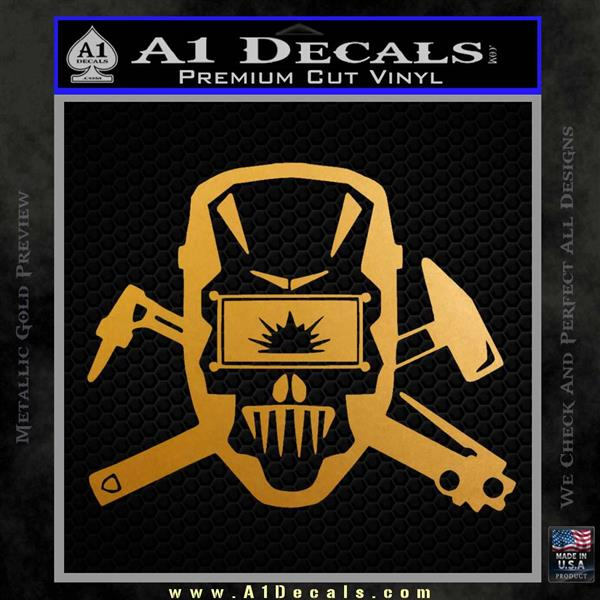 Welding Decal Sticker D4 Metallic Gold Vinyl