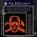 Welding Decal Sticker D4 Orange Vinyl Emblem 120x120
