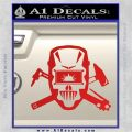 Welding Decal Sticker D4 Red Vinyl 120x120