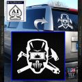Welding Decal Sticker D4 White Vinyl Emblem 120x120