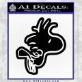 Woodstock Flying Decal Sticker D2 Black Vinyl Logo Emblem 120x120