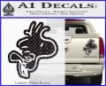 Woodstock Flying Decal Sticker D2 Carbon Fiber Black 120x97