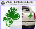 Woodstock Flying Decal Sticker D2 Green Vinyl 120x97