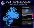 Woodstock Flying Decal Sticker D2 Light Blue Vinyl 120x97