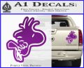 Woodstock Flying Decal Sticker D2 Purple Vinyl 120x97