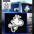Woodstock Flying Decal Sticker D2 White Vinyl Emblem 120x120