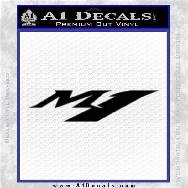 Yamaha M1 Decal Sticker V1 Black Vinyl Logo Emblem