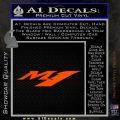 Yamaha M1 Decal Sticker V1 Orange Vinyl Emblem 120x120