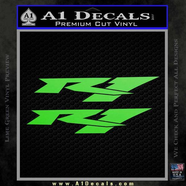 Yamaha R1 Decal Sticker V2 Lime Green Vinyl