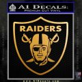 Raiders Decal Sticker D1 Metallic Gold Vinyl 120x120